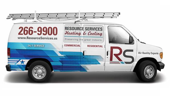 Blue Resource Services Van 600x340