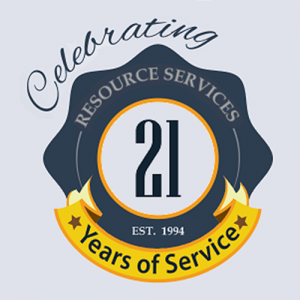 Resource Services- Celebrating 21 Years of Service