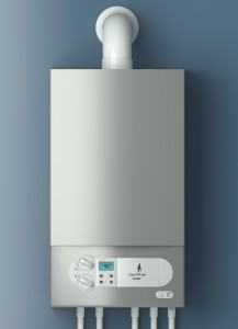 Home gas-fired boiler. The installation of gas equipment.